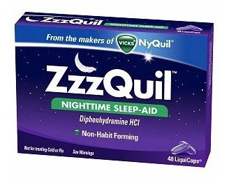 Sleeping Pills-Vicks ZzzQuil night time sleeping aid