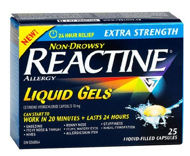 medicines for allergy-reactine