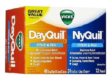 medicines for fever-Vicks Dayquil cold and flu