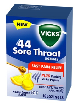 medicines for sore throat-Vicks 44 sore throat lozenges