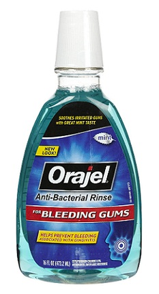 mouthwashes-Orajel anti-bacterial