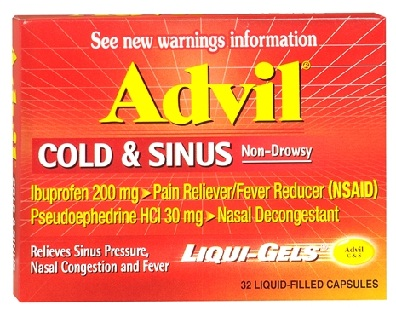 medicines for cold-Advil Cold and Sinus